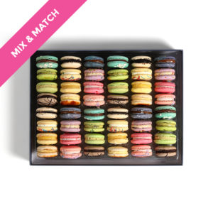 large box french macarons