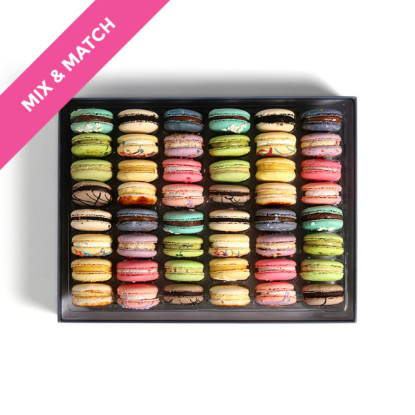 large box french macarons