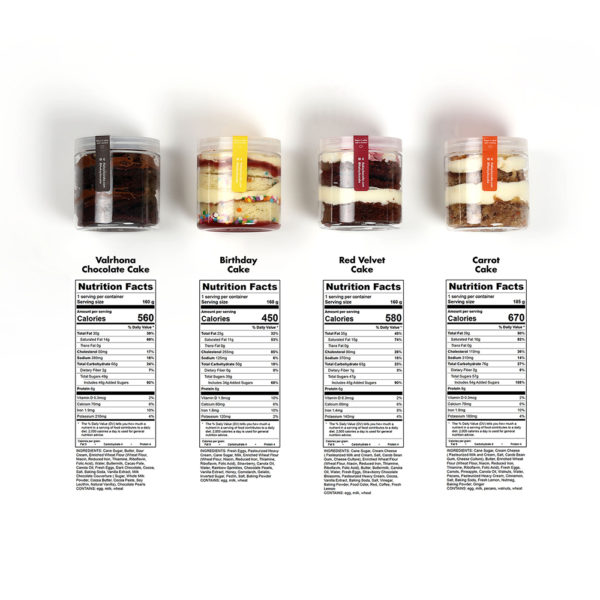 cakes in a jar nutritional information